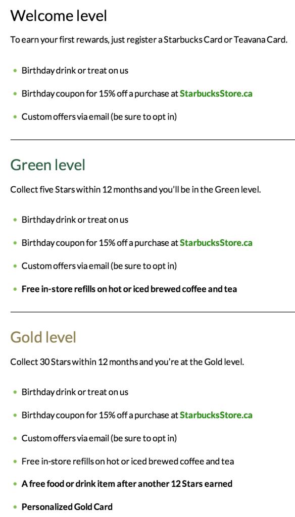Starbucks Levels