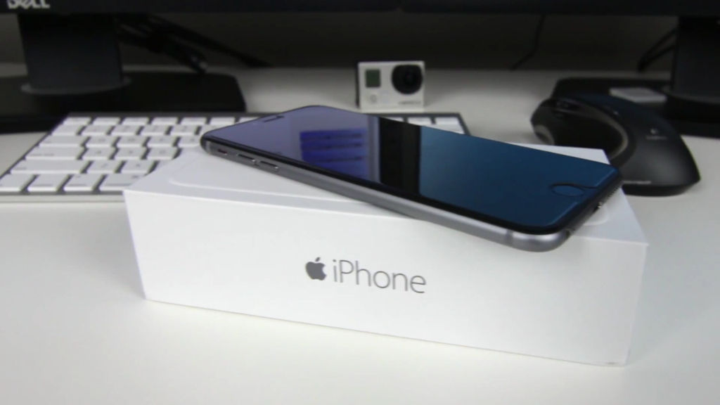 iPhone on Box Upright