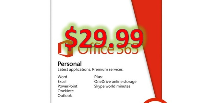 Microsoft Office 365 Personal for $29.99