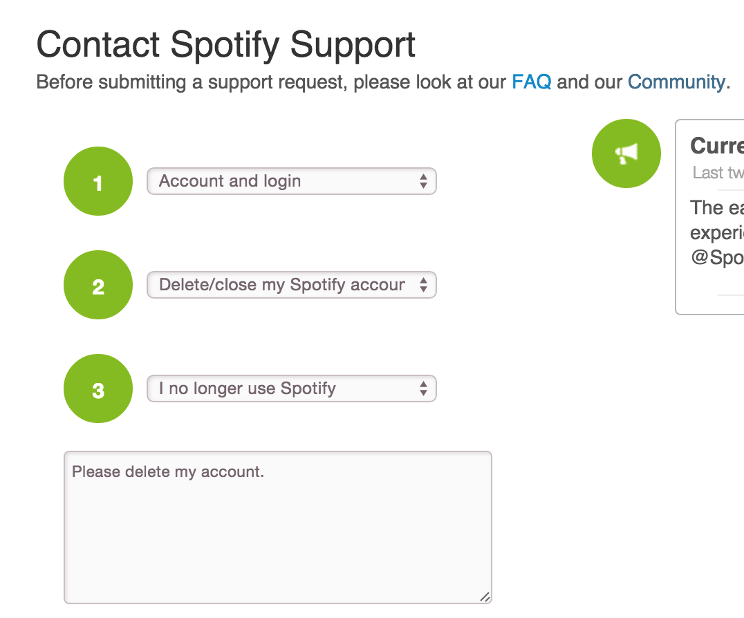 Delete Your Spotify Account! Screen Shot 20150507 At 90745 Am