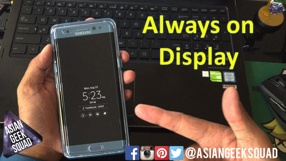 All about Always on Display – Samsung Galaxy Note 7