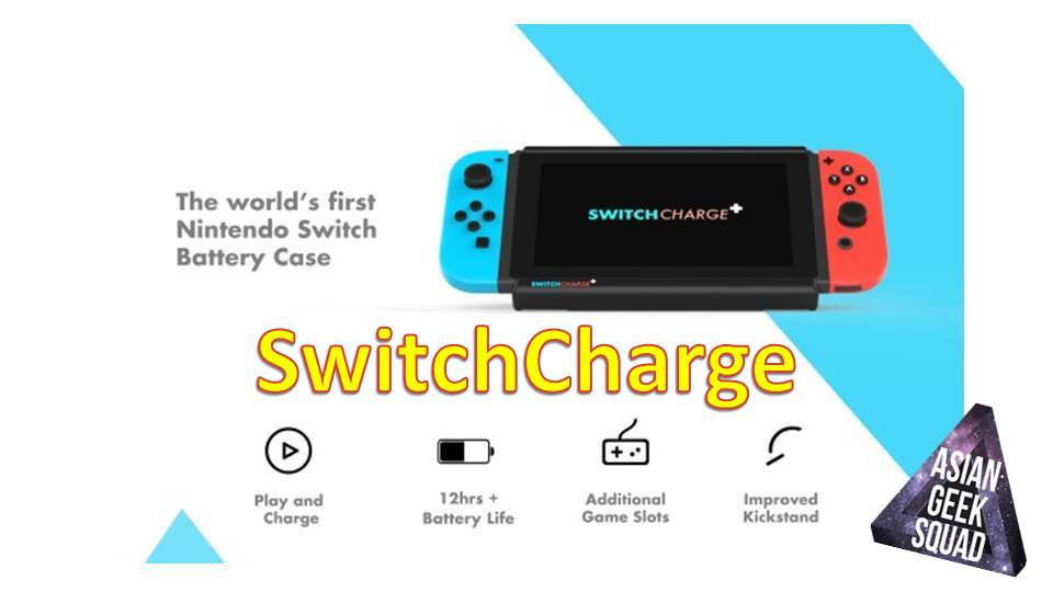 free shipping 9fca2 fb3ba SwitchCharge – the battery case for the Nintendo Switch!