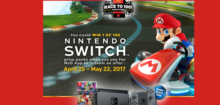 Can't find a Nintendo Switch?  Win one by eating at McDonalds!