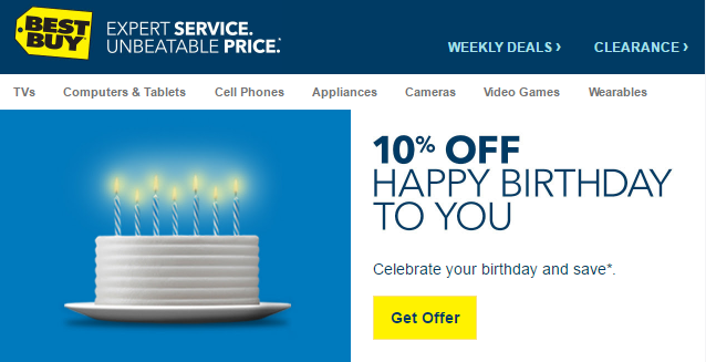 what can you buy with a 10 off best buy birthday coupon